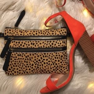 Sole Society Leopard Clutch